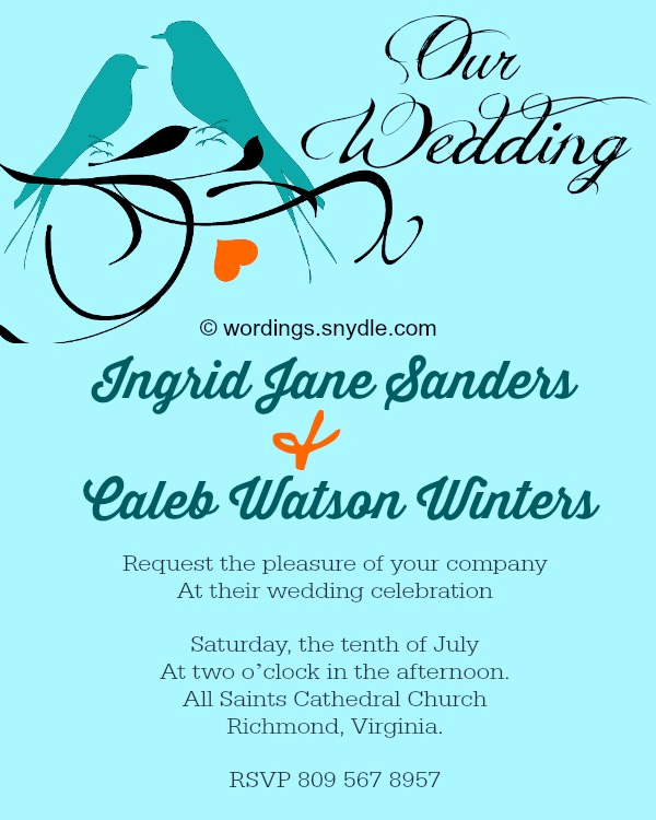 Informal Wedding Invitation Wording Fresh Wording Snydle