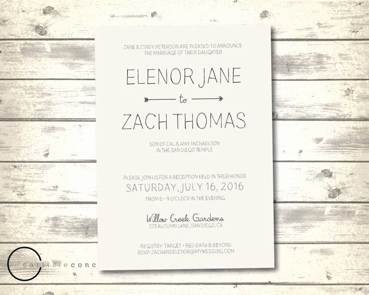 Informal Wedding Invitation Wording Unique 17 Best Ideas About Casual Wedding Invitation Wording On
