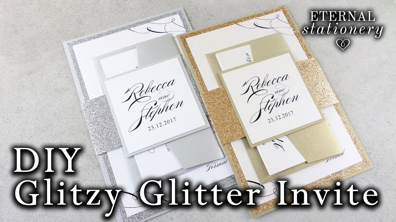 Invitation Belly Bands Diy Awesome How to Make Elegant Glitter Wedding Invitations with Belly
