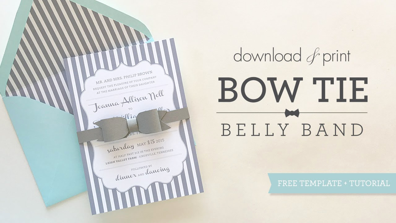 Invitation Belly Bands Diy Best Of Bowtie Belly Band