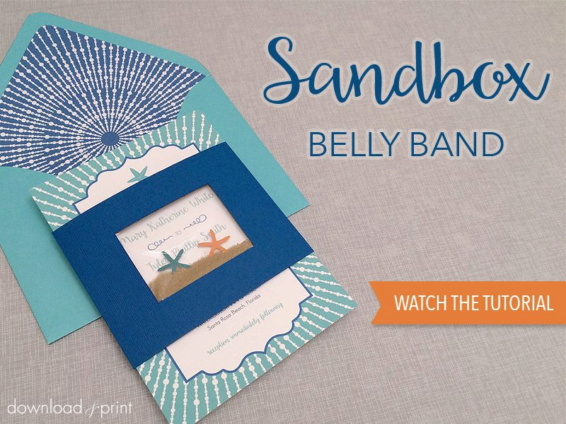 Invitation Belly Bands Diy Lovely Diy Sandbox Belly Band for Beach Wedding Invitation Free