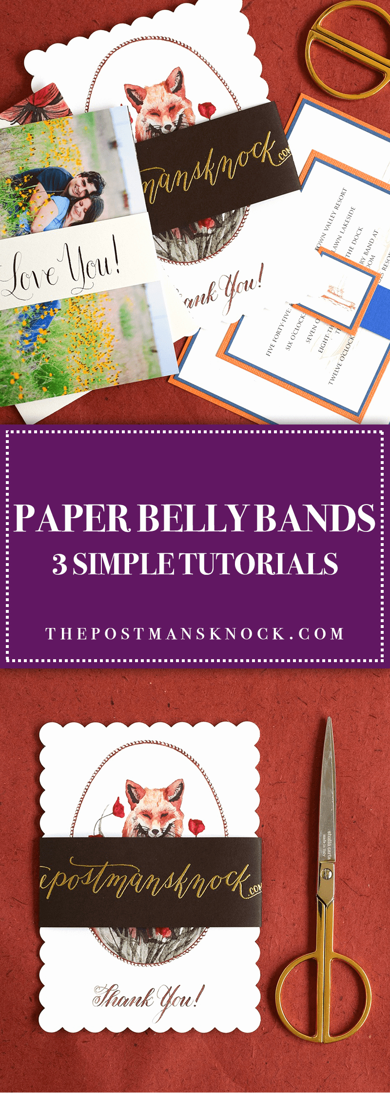 Invitation Belly Bands Diy Lovely Paper Belly Bands 3 Simple Tutorials