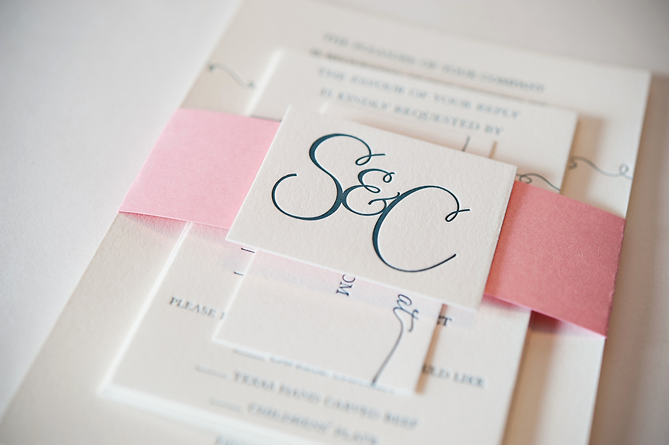 Invitation Belly Bands Diy Lovely Real Wedding Susan and Chad