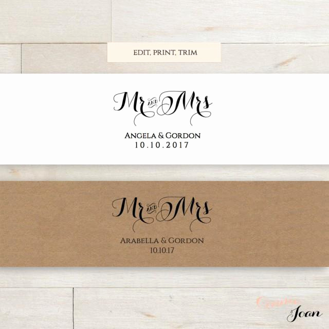 Invitation Belly Bands Diy Luxury Invitation Belly Band Printable Template Wedding Belly