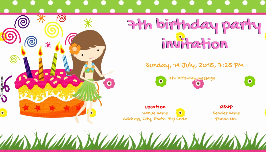 Invitation Card for Birthday Best Of Free 1 20 Birthday Invitation Card & Line Invitations