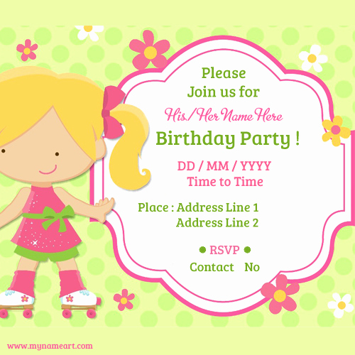 Invitation Card for Birthday Best Of Online Invitation Card Maker Free