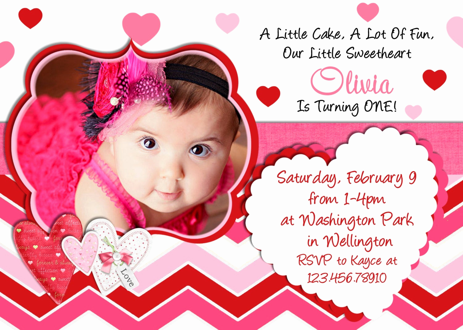 Invitation Card for Birthday Elegant Valentine Birthday Invitation 1st Birthday Valentines Day