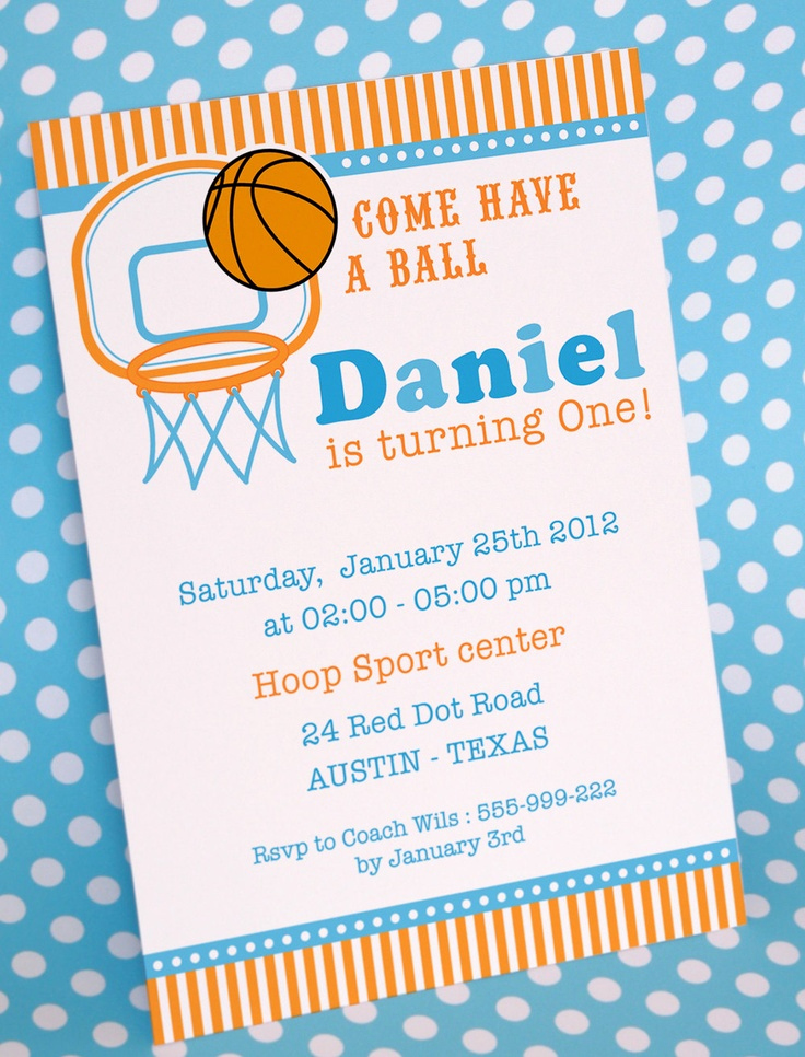 Invitation Card for Birthday Fresh Diy Printable Invitation Card Basketball Birthday Party