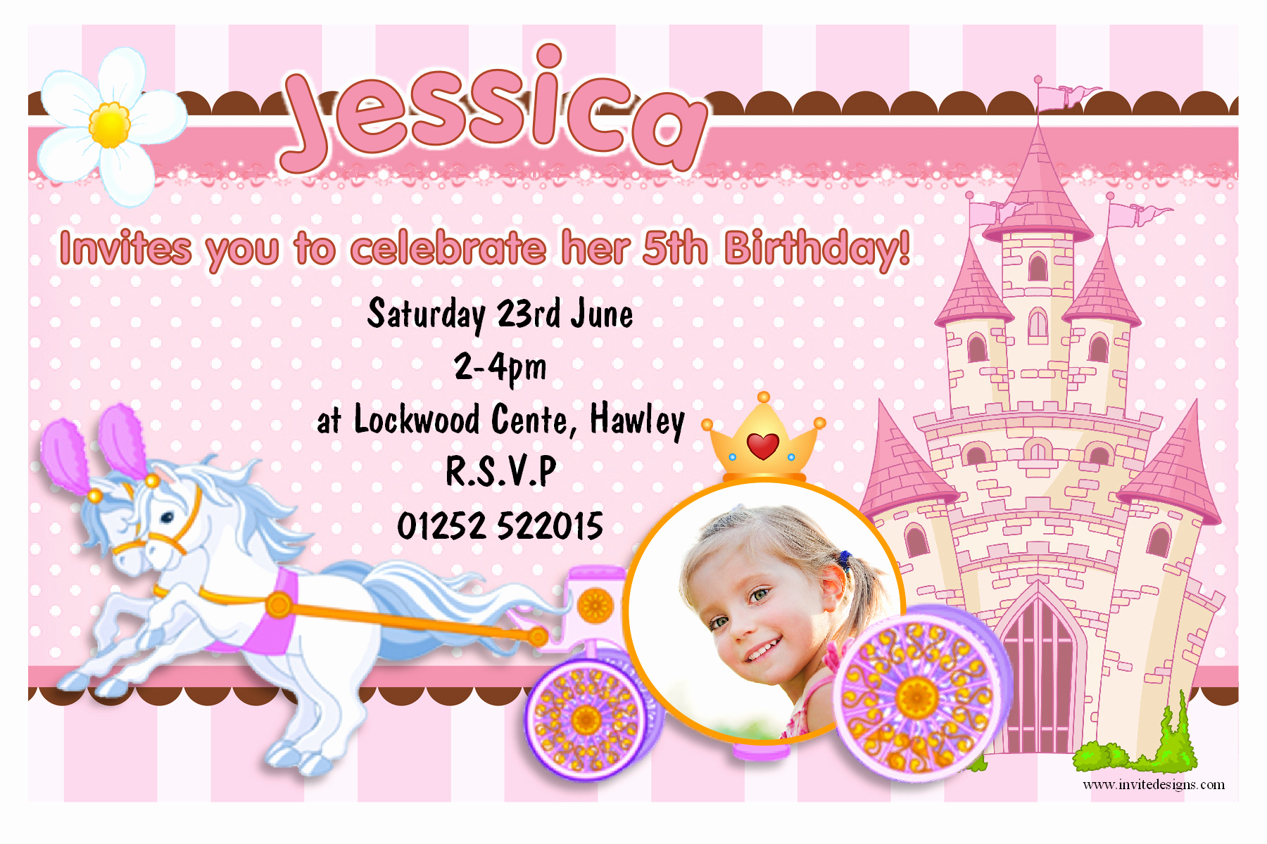 Invitation Card for Birthday Inspirational Invitation Card Princess Birthday