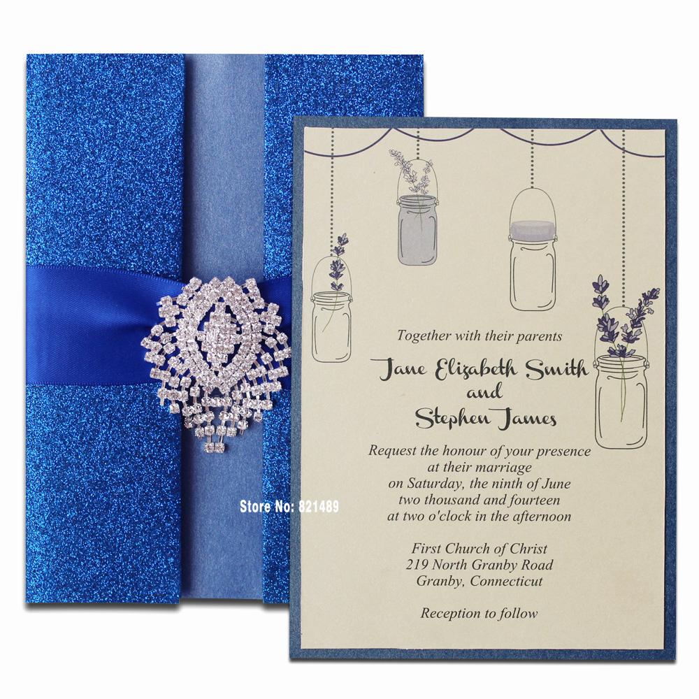 Invitation Card for Weddings Beautiful Aliexpress Buy Royal Blue Wedding Invitation
