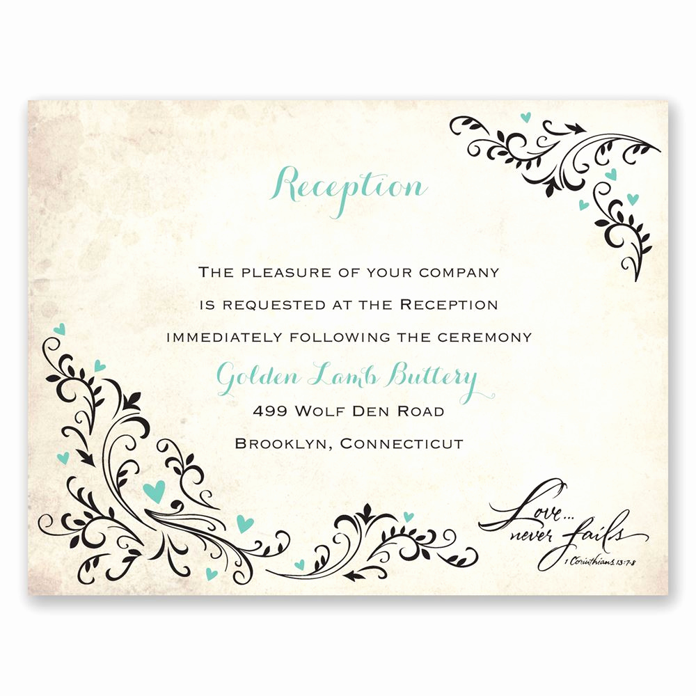Invitation Card for Weddings Beautiful Blossoming Love Reception Card