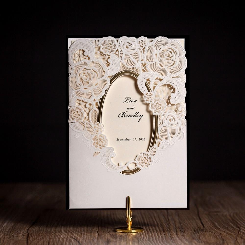 Invitation Card for Weddings Elegant Aliexpress Buy Wishmade Cw5185 White Royal Wedding
