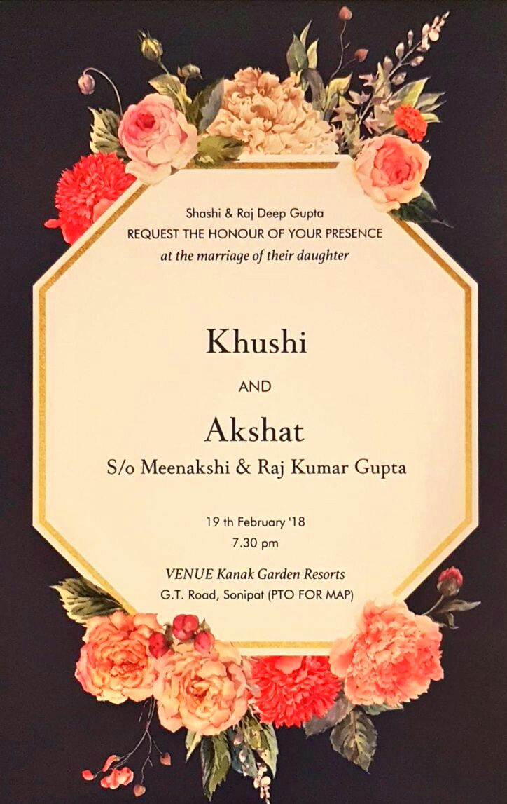 Invitation Card for Weddings Fresh Floral Wedding Cards 2018 Invitations In 2019