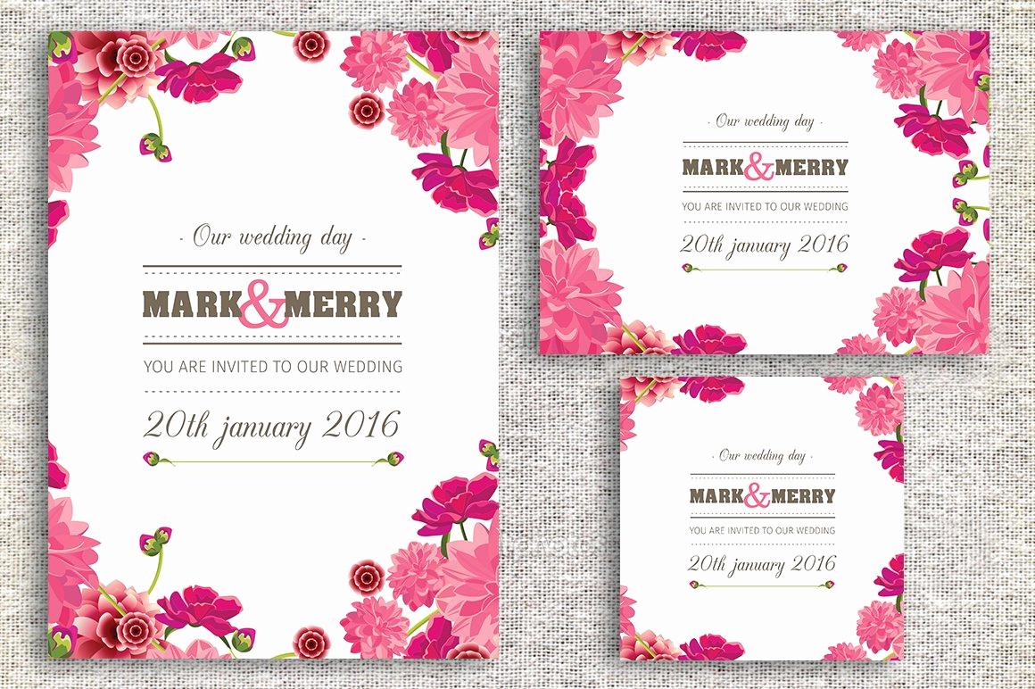 Invitation Card for Weddings Lovely Wedding Invitation Card Wedding Templates Creative Market