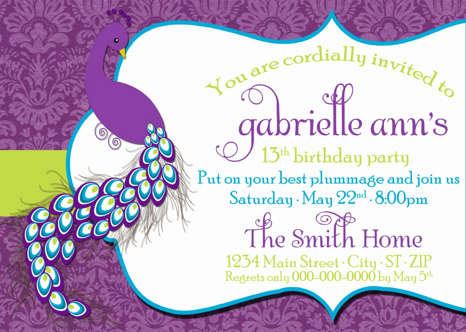 Invitation Dress Code Wording Elegant Birthday Invitations Tween Birthday Party Invitations