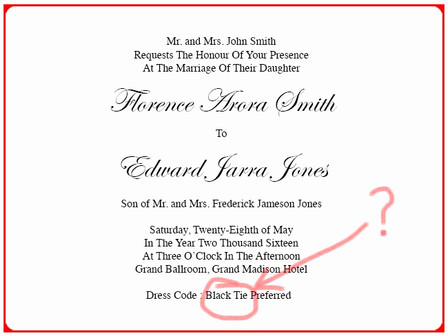 Invitation Dress Code Wording Inspirational Dress Code Wearing A Business Suit to A social event