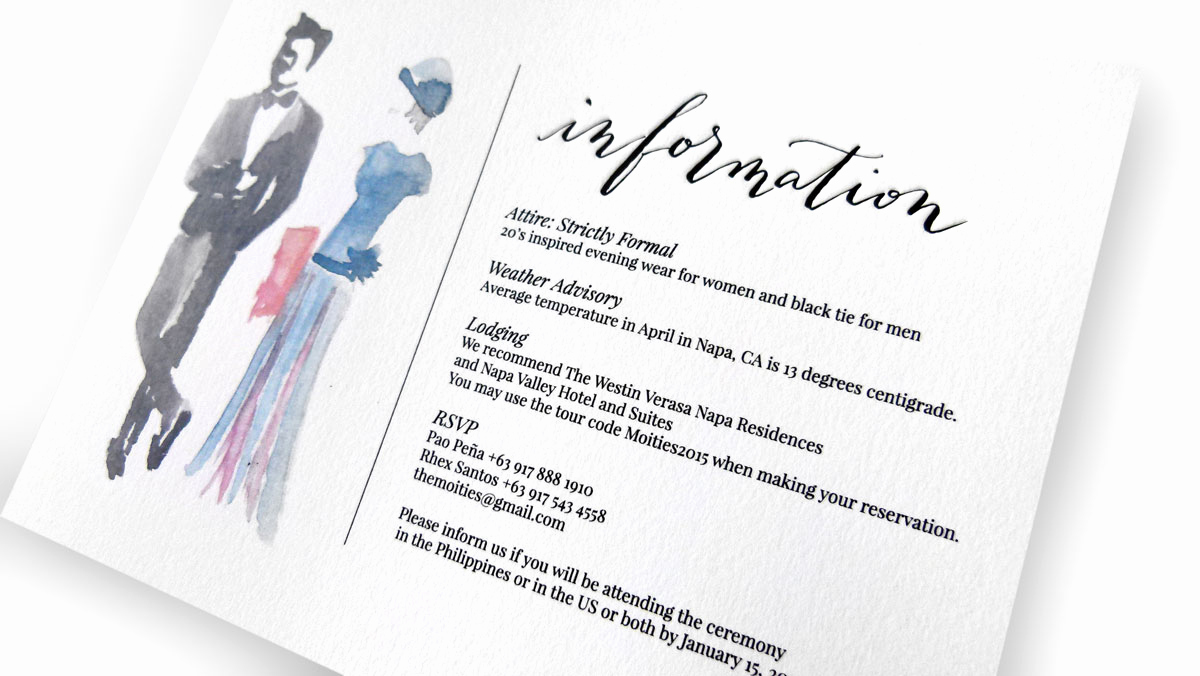 Invitation Dress Code Wording Lovely the Moities Wedding Invitation