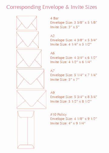 Invitation Envelope Sizes Chart Beautiful Best 25 Invitation Envelopes Ideas On Pinterest