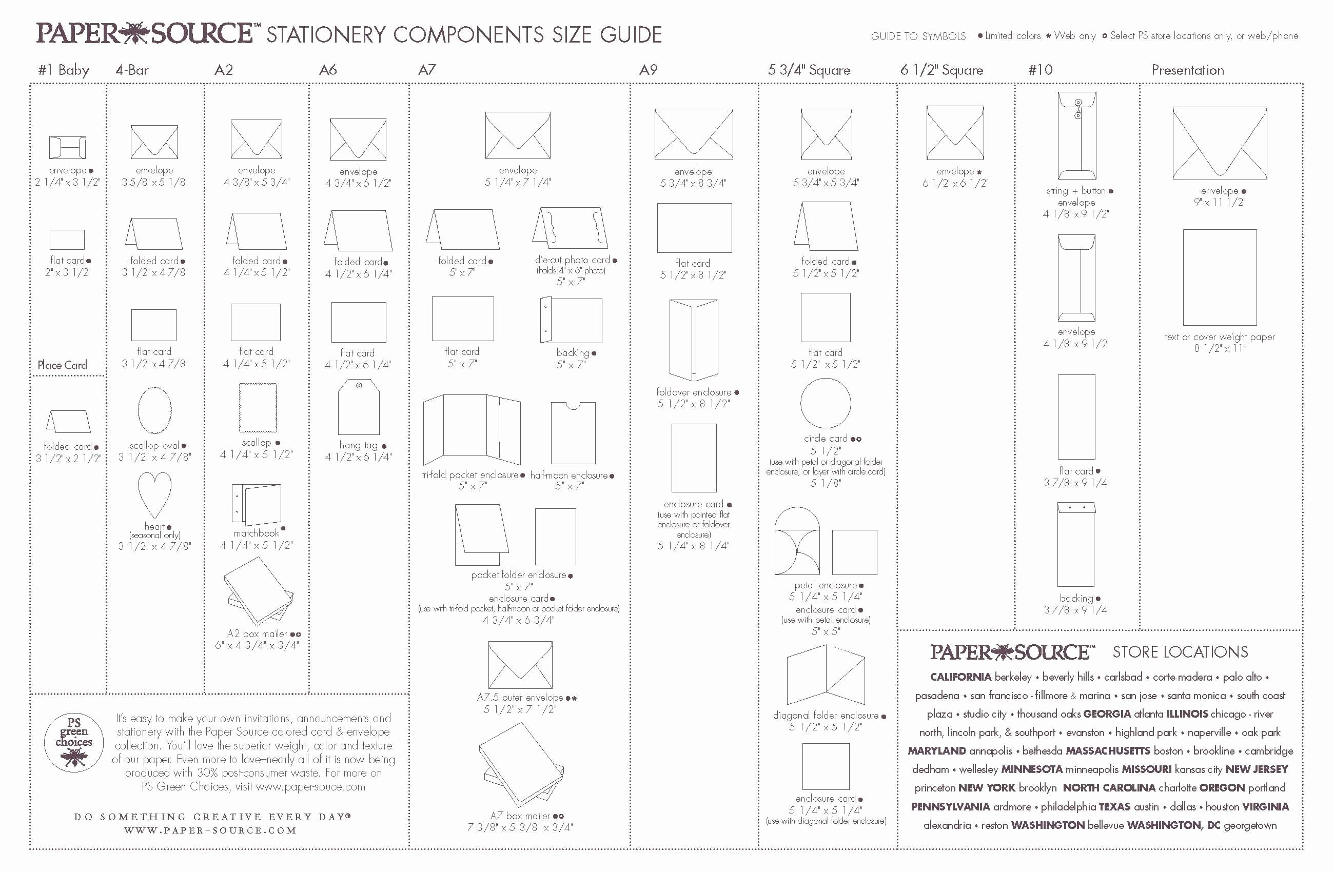 Invitation Envelope Sizes Chart Elegant Stationery Ponents Size Guide Envelope Card Size Chart