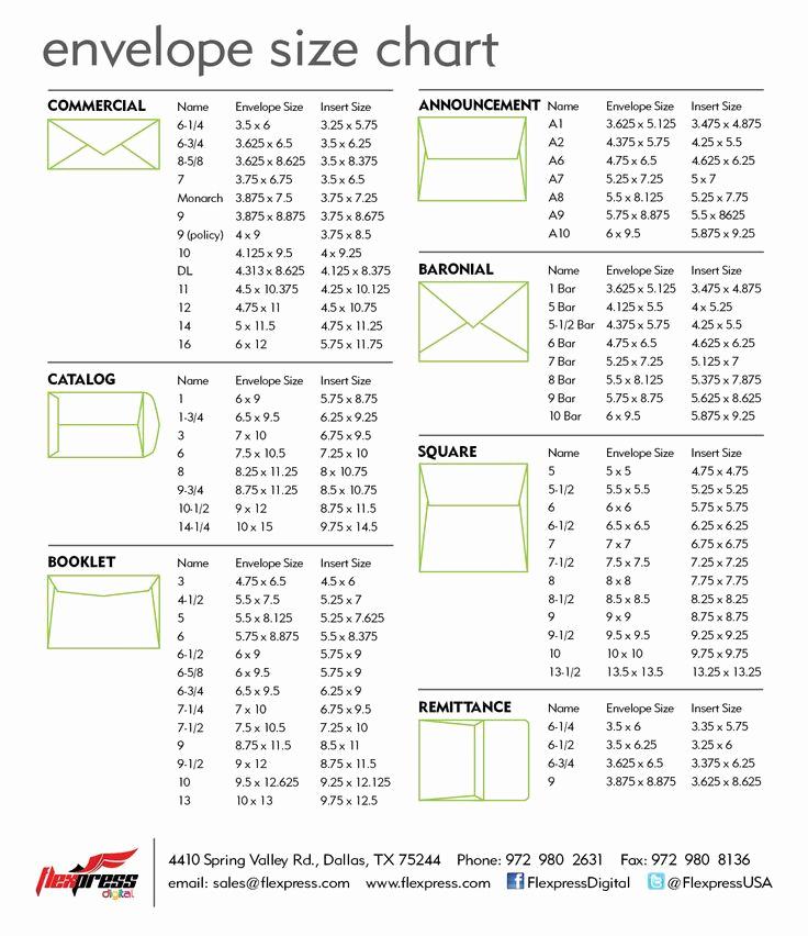 Invitation Envelope Sizes Chart Inspirational Standard Sizes for Wedding Invitations