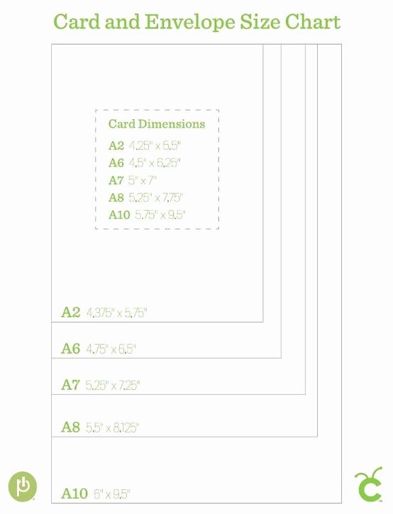 Invitation Envelope Sizes Chart Unique Card and Envelope Size Chart Bjl