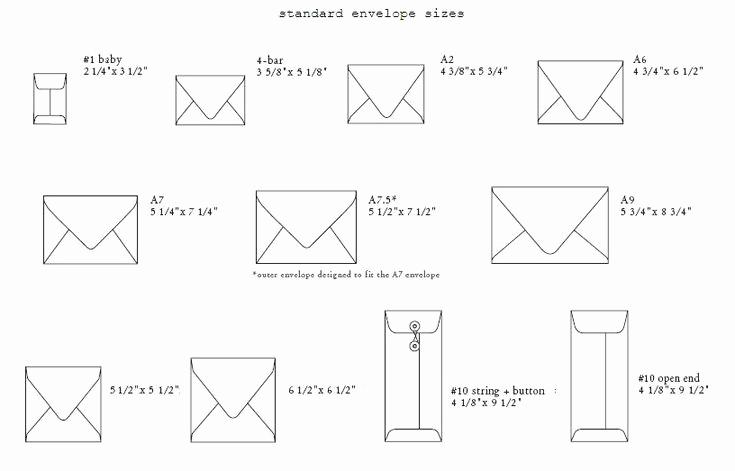 Invitation Envelope Sizes Chart Unique Standard Envelope Sizes 816×523 Pixels