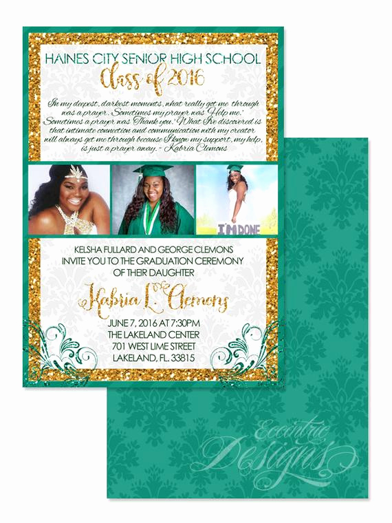 Invitation for Graduation Ceremony Awesome 5x7 Graduation Invitation You Print Graduation Graduate