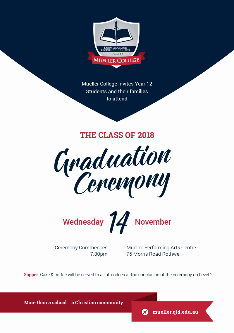 Invitation for Graduation Ceremony Awesome Yr 12 Graduation Ceremony – Mueller Connect