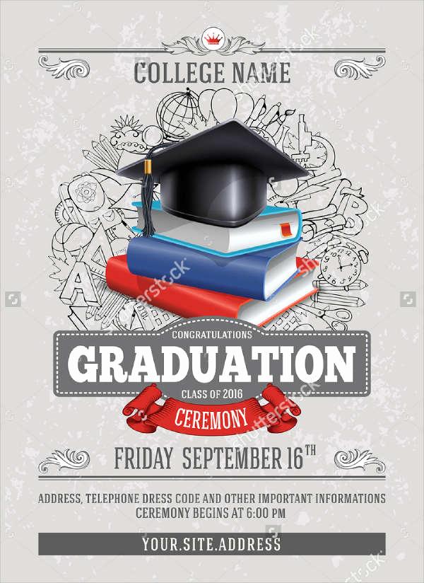 Invitation for Graduation Ceremony Elegant 48 Sample Graduation Invitation Designs & Templates Psd
