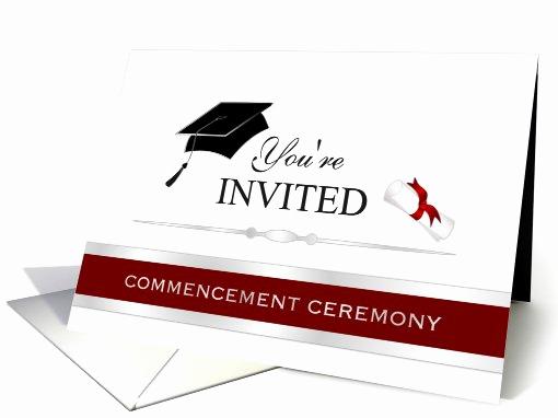 Invitation for Graduation Ceremony Fresh Graduation Mencement Ceremony Invitation Card