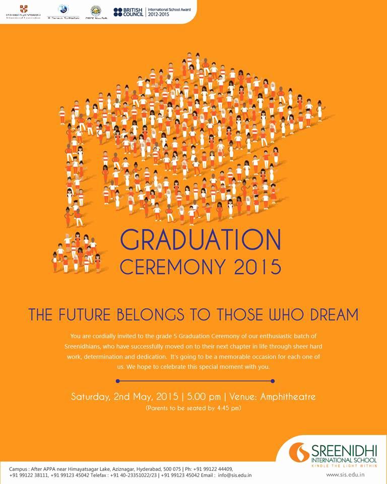 Invitation for Graduation Ceremony Lovely Sreenidhi International School