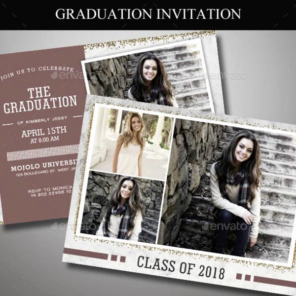 Invitation for Graduation Ceremony Unique 17 Graduation Ceremony Invitation Designs & Templates