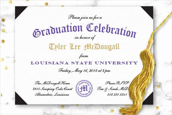 Invitation for Graduation Ceremony Unique 49 Graduation Invitation Designs & Templates Psd Ai