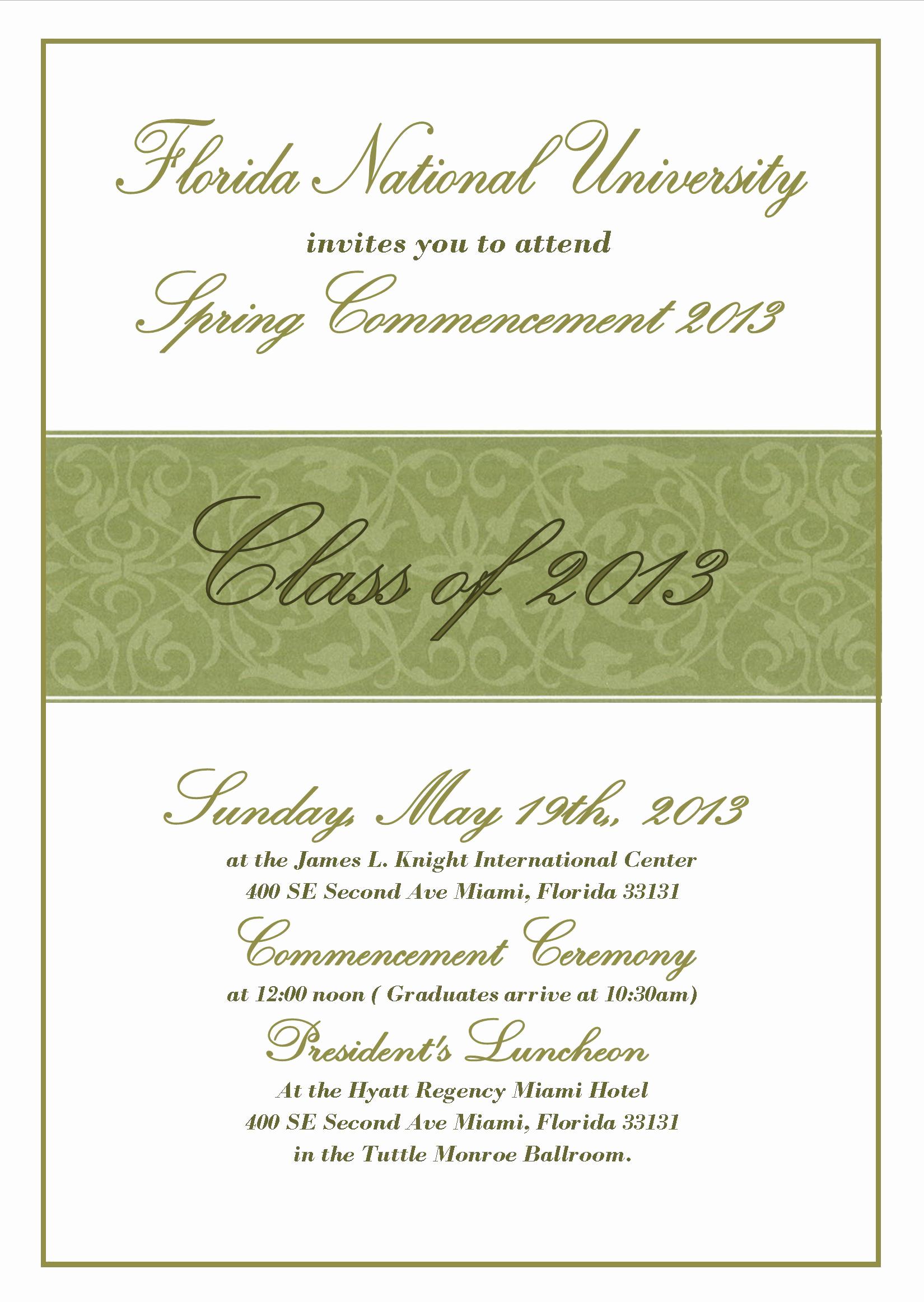 Invitation for Graduation Ceremony Unique Mencement Ceremony Invitation