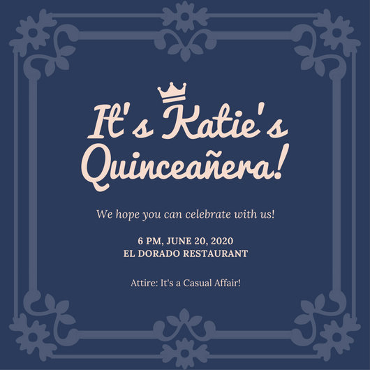 Invitation for Quinceaneras Samples Awesome Quinceanera Invitation Templates Canva