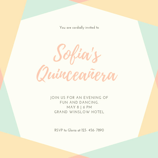 Invitation for Quinceaneras Samples Best Of Customize 40 Quinceanera Invitation Templates Online Canva