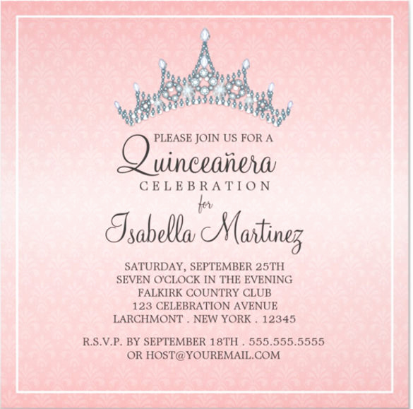 Invitation for Quinceaneras Samples Fresh Free Printable Quinceanera Invitation Templates