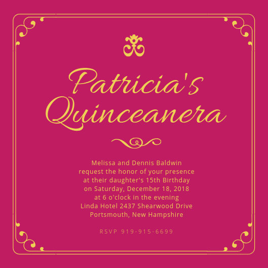 Invitation for Quinceaneras Samples Inspirational Customize 40 Quinceanera Invitation Templates Online Canva