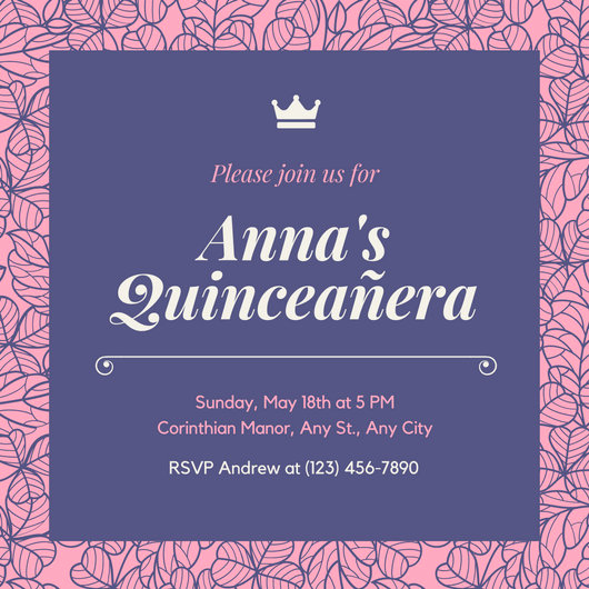 Invitation for Quinceaneras Samples Inspirational Customize 45 Quinceanera Invitation Templates Online Canva