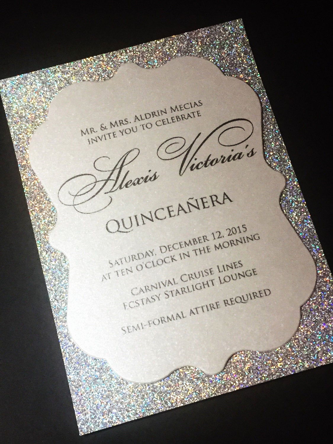 Invitation for Quinceaneras Samples Inspirational Quinceañera Invitation Sweet 16 Invitation Glitter