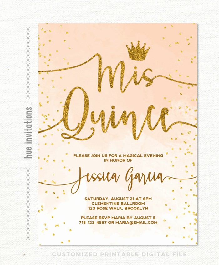 Invitation for Quinceaneras Samples Lovely 35 Beautiful and Unique Quinceanera Invitations Templates