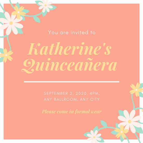 Invitation for Quinceaneras Samples Lovely Customize 34 Quinceanera Invitation Templates Online Canva