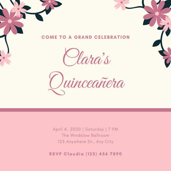 Invitation for Quinceaneras Samples Luxury Customize 34 Quinceanera Invitation Templates Online Canva