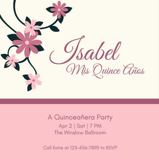 Invitation for Quinceaneras Samples Luxury Customize 45 Quinceanera Invitation Templates Online Canva