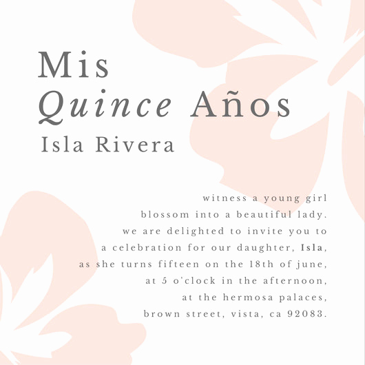 Invitation for Quinceaneras Samples New Customize 43 Quinceanera Invitation Templates Online Canva