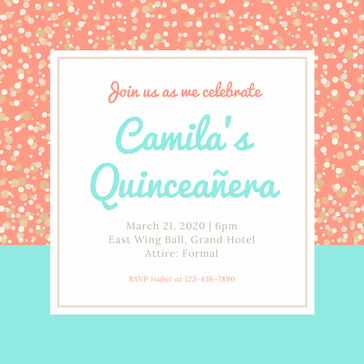 Invitation for Quinceaneras Samples New Customize 45 Quinceanera Invitation Templates Online Canva
