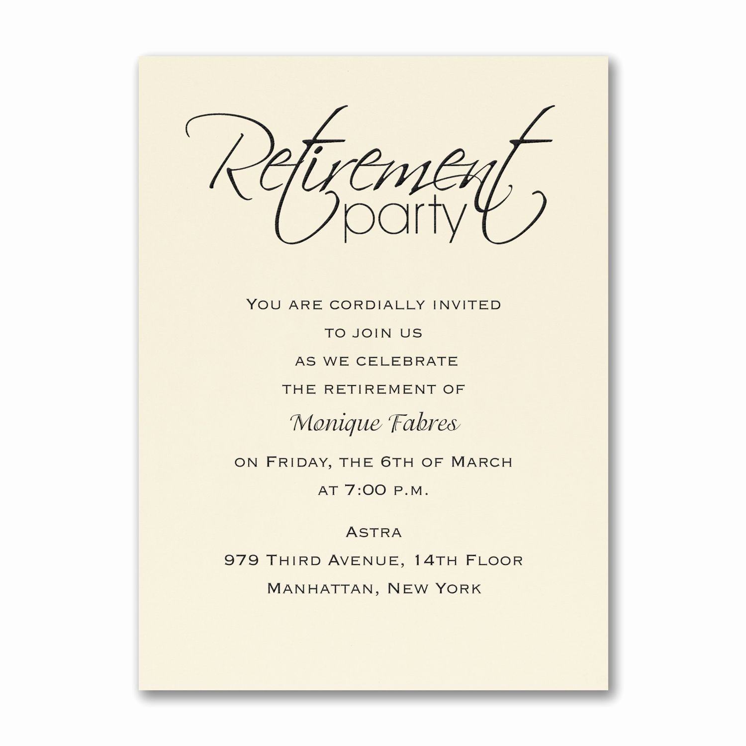 Invitation for Retirement Party Awesome Retirement Celebration Party Invitation Ecru