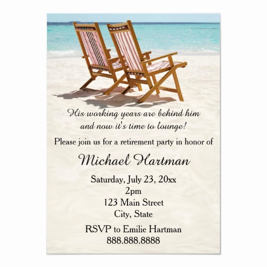 Invitation for Retirement Party Best Of Beach Chairs Retirement Party Invitations