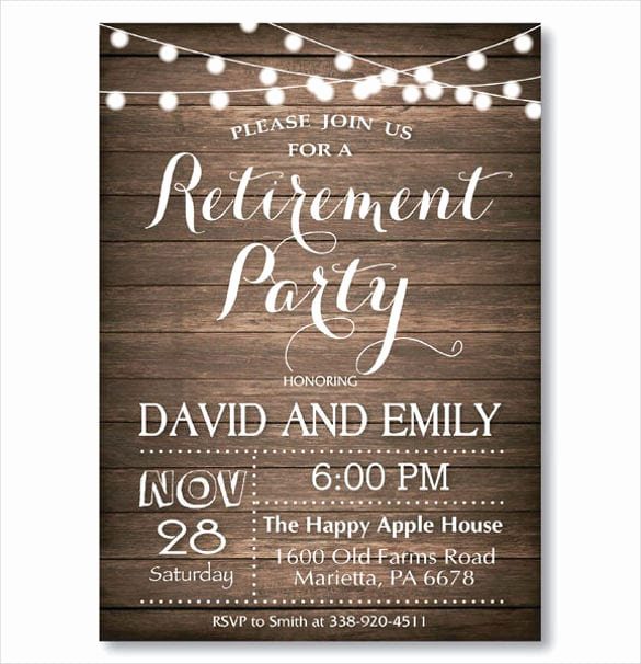Invitation for Retirement Party Best Of Retirement Party Invitation Templates