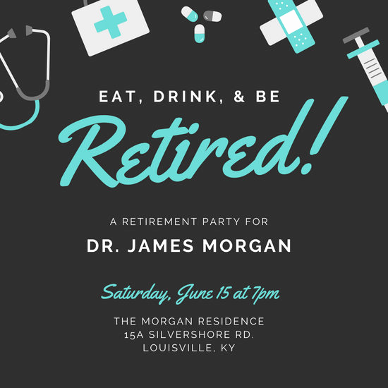 Invitation for Retirement Party Lovely Customize 2 412 Retirement Party Invitation Templates